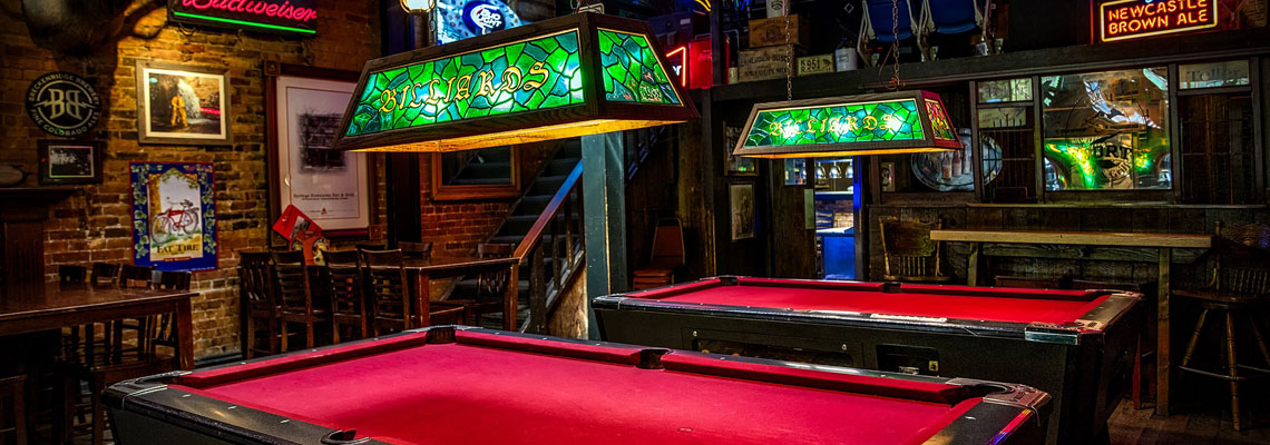 Pubs with pool tables or dartboards